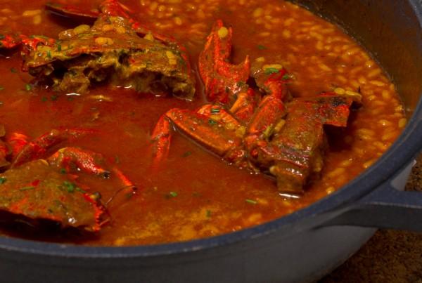 arroz caldoso con necora